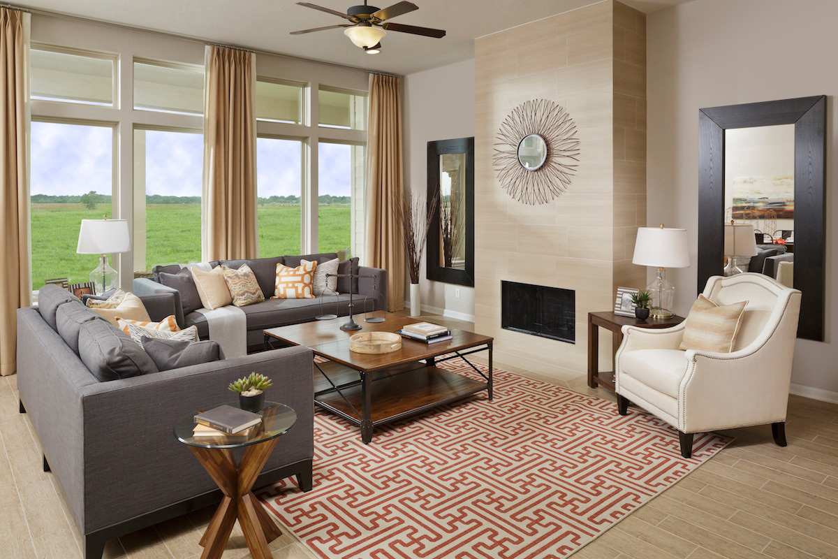 New Homes in Richmond, TX - Briscoe Falls Preserve Plan 2314 Great Room