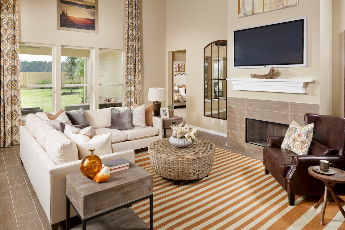 New Homes in Magnolia, TX - Cimarron Creek Preserve Plan 3028 Great Room