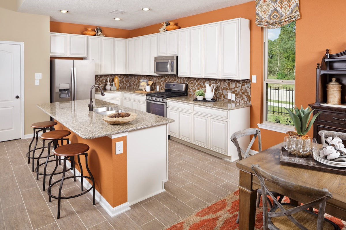 New Homes in Magnolia, TX - Cimarron Creek Preserve Plan 3028 Kitchen