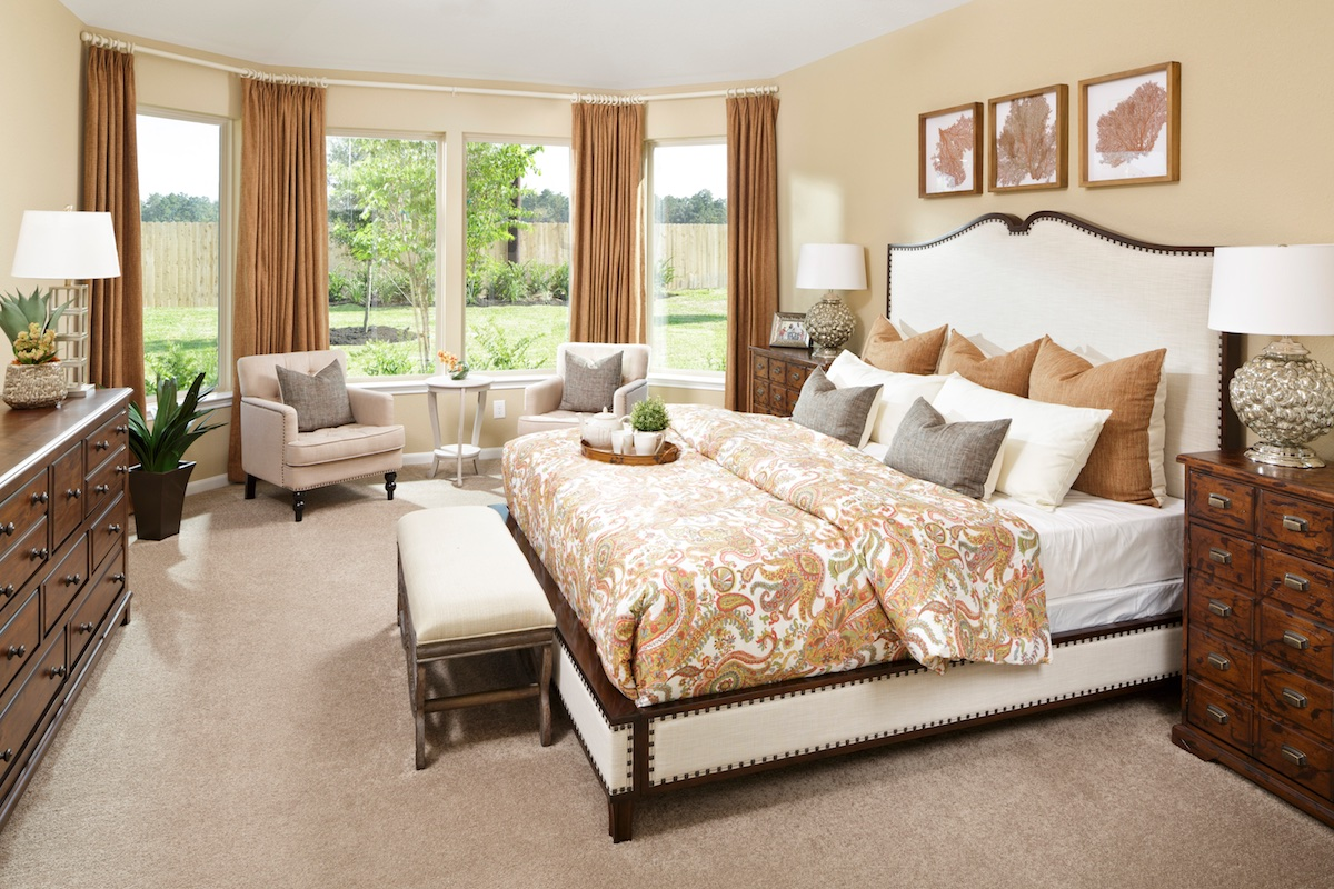 New Homes in Magnolia, TX - Cimarron Creek Preserve Plan 3028 Master Bedroom