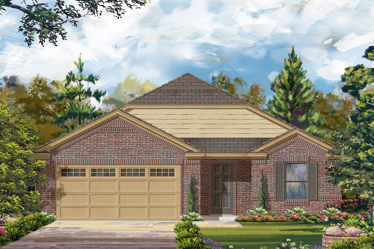 New Homes in Rosenberg, TX - Elevation C