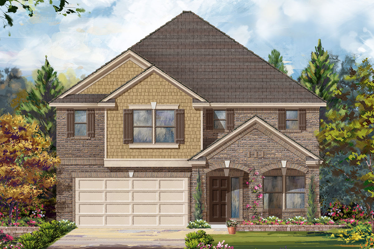 New Homes in Rosenberg, TX - Elevation D