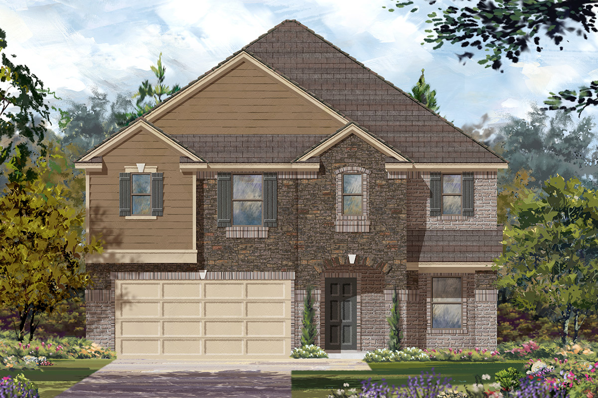 New Homes in Rosenberg, TX - Elevation K