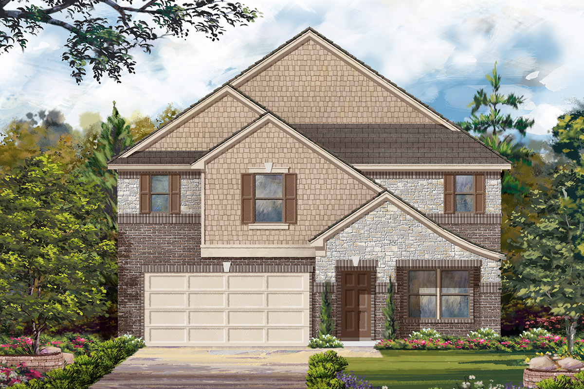 New Homes in Rosenberg, TX - Elevation L