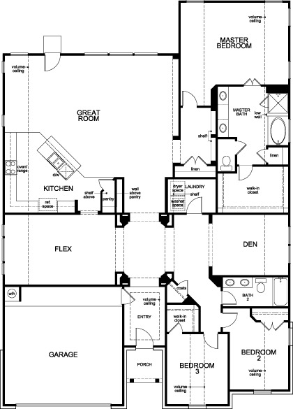 New Homes in Houston, TX - Plan 2598, First Floor