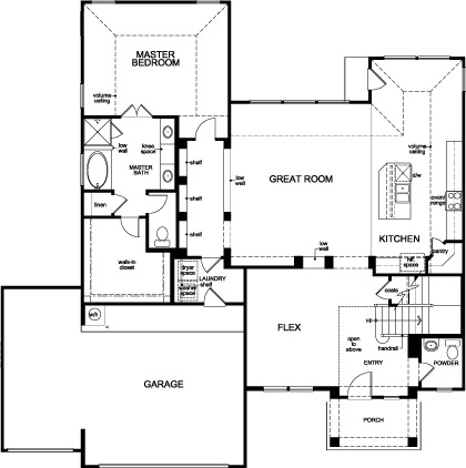 New Homes in Houston, TX - Plan 2866, First Floor