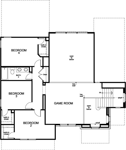 New Homes in Houston, TX - Plan 2866, Second Floor