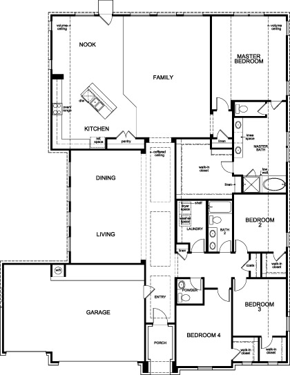 New Homes in Houston, TX - Plan 3005, First Floor