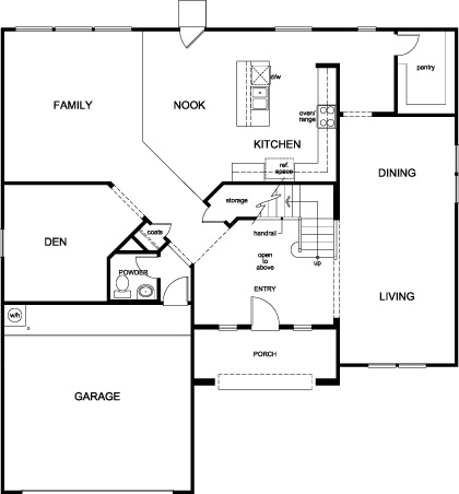 New Homes in Houston, TX - Plan 3306, First Floor