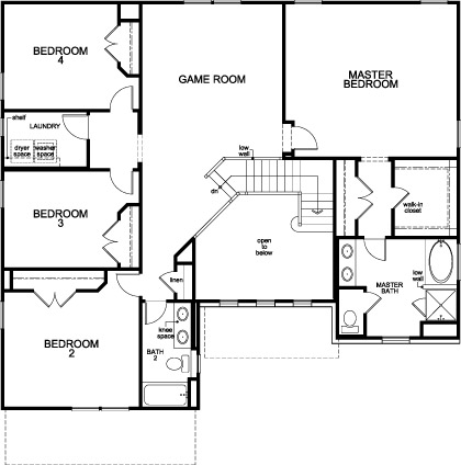 New Homes in Houston, TX - Plan 3306, Second Floor