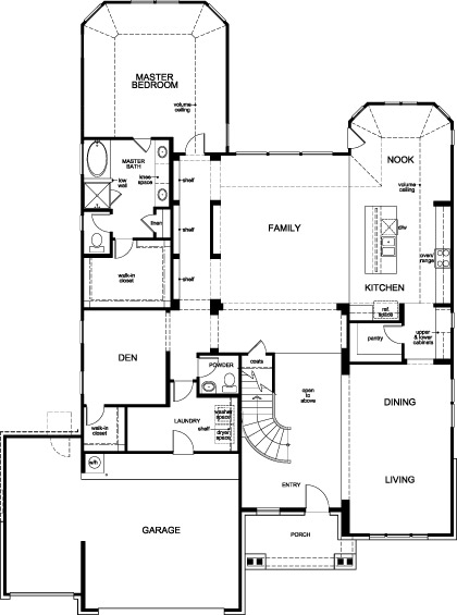 New Homes in Houston, TX - Plan 3656, First Floor