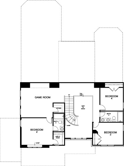 New Homes in Houston, TX - Plan 3656, Second Floor
