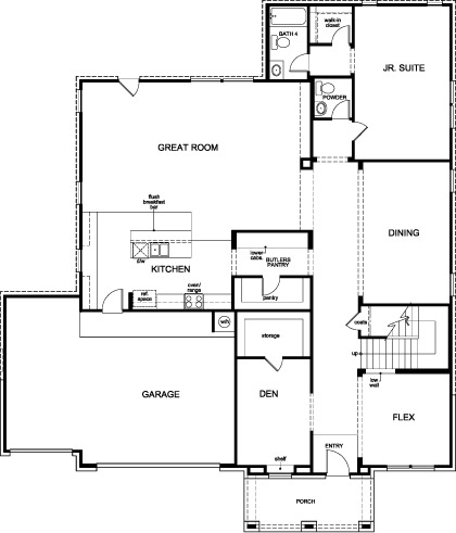 New Homes in Houston, TX - Plan 4811, First Floor