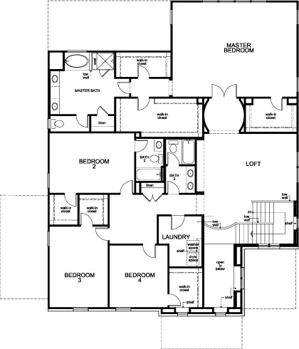 New Homes in Houston, TX - Plan 4811, Second Floor