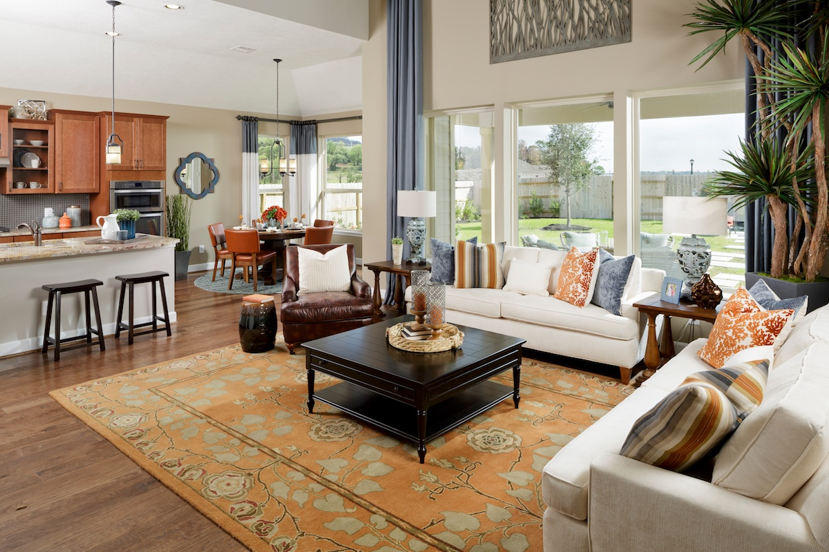 New Homes in Houston, TX - Lakewood Pines Estates Plan 2866 Great Room