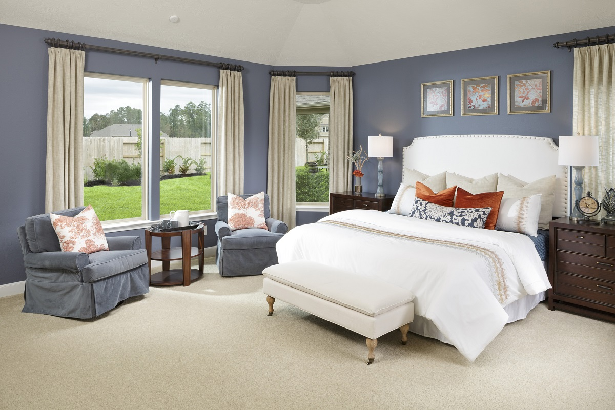 New Homes in Houston, TX - Lakewood Pines Estates Plan 2866 Master Suite