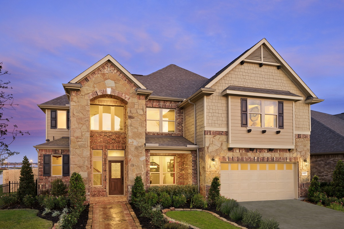 New Homes in Houston, TX - Lakewood Pines Estates Plan 2866