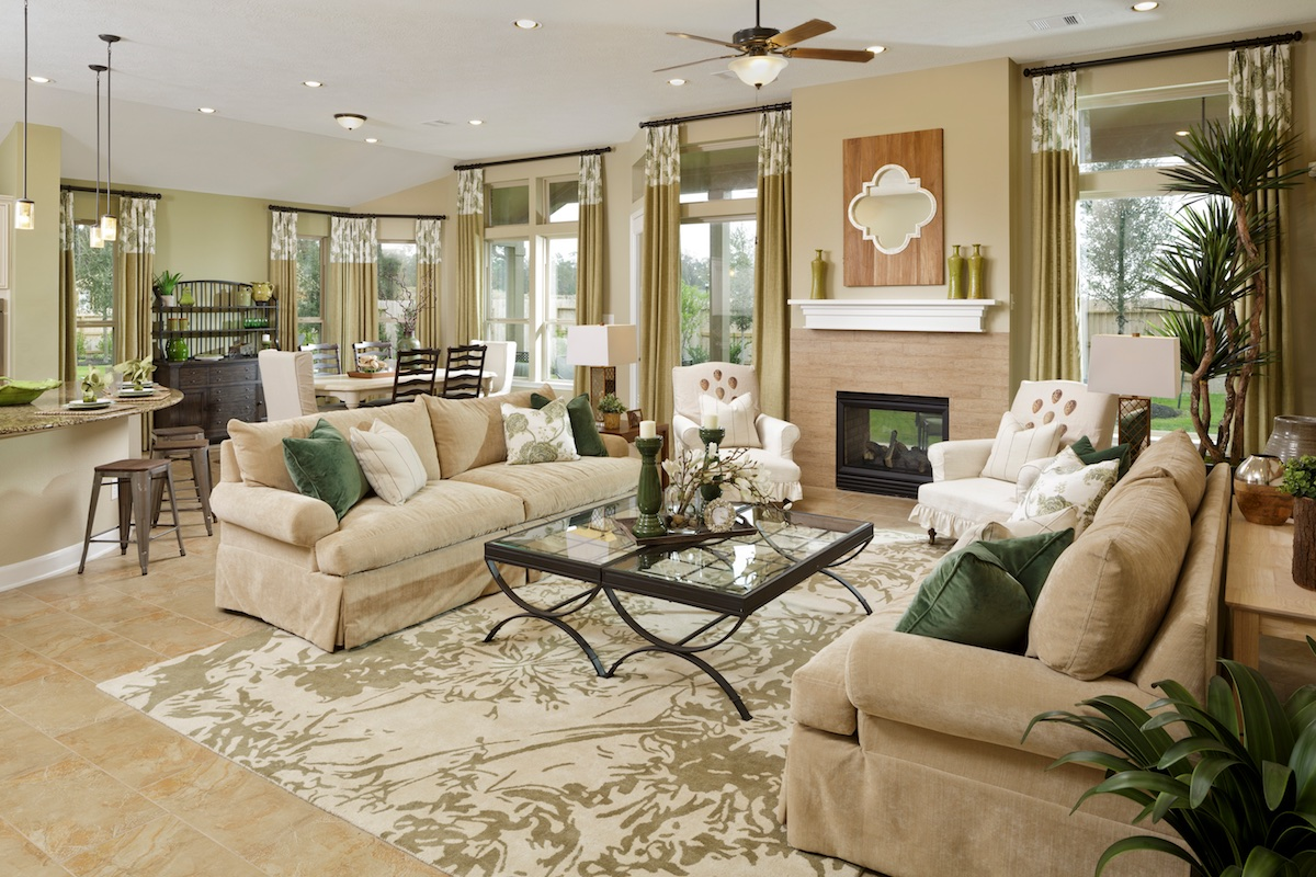 New Homes in Houston, TX - Lakewood Pines Estates Plan 3005 Great Room