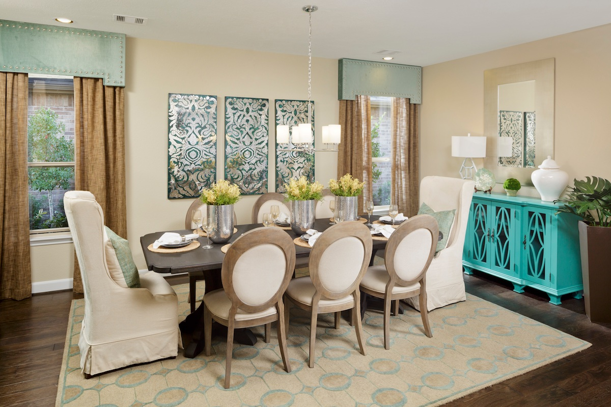 New Homes in Houston, TX - Lakewood Pines Estates Plan 4811 Dining Room