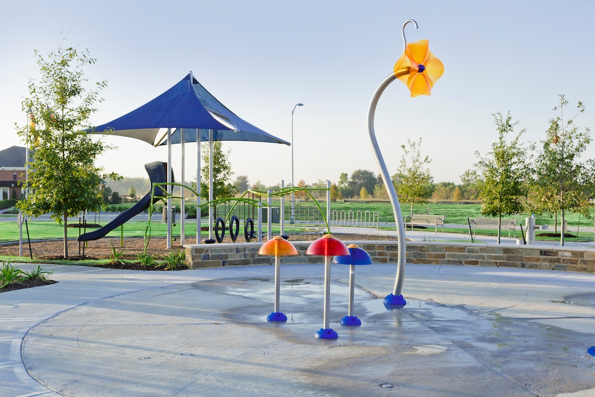 New Homes in Katy, TX - Anserra Preserve Splash Pad