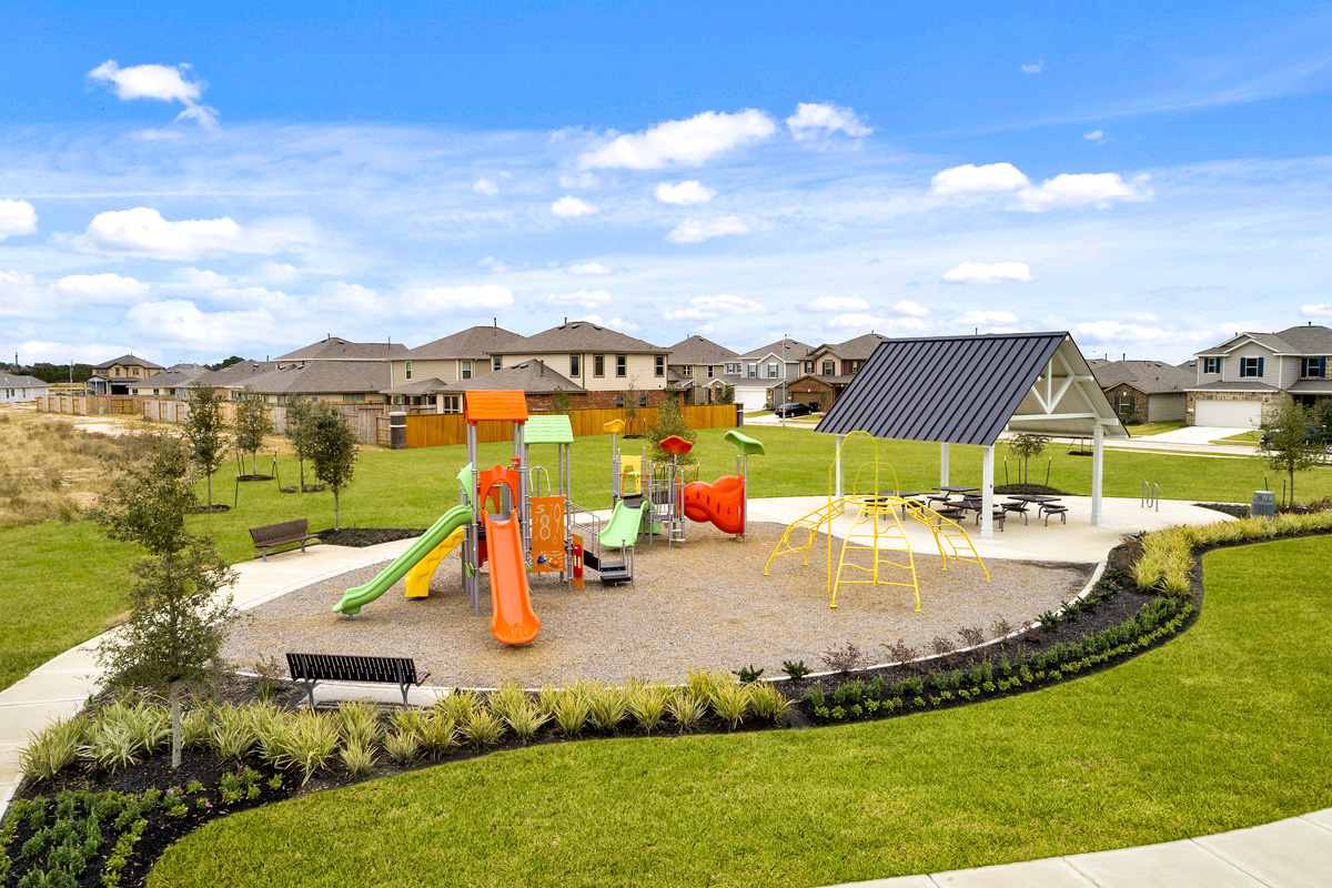 New Homes in Katy, TX - The Meadows at Westfield Village Community Common Area with Park, Playground and Pavilion