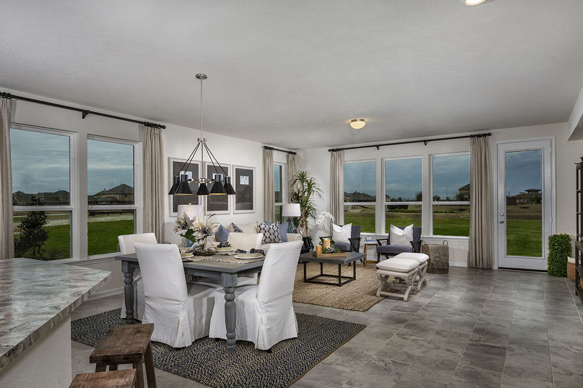 New Homes in Katy, TX - Anserra Preserve Plan 2130 Great Room