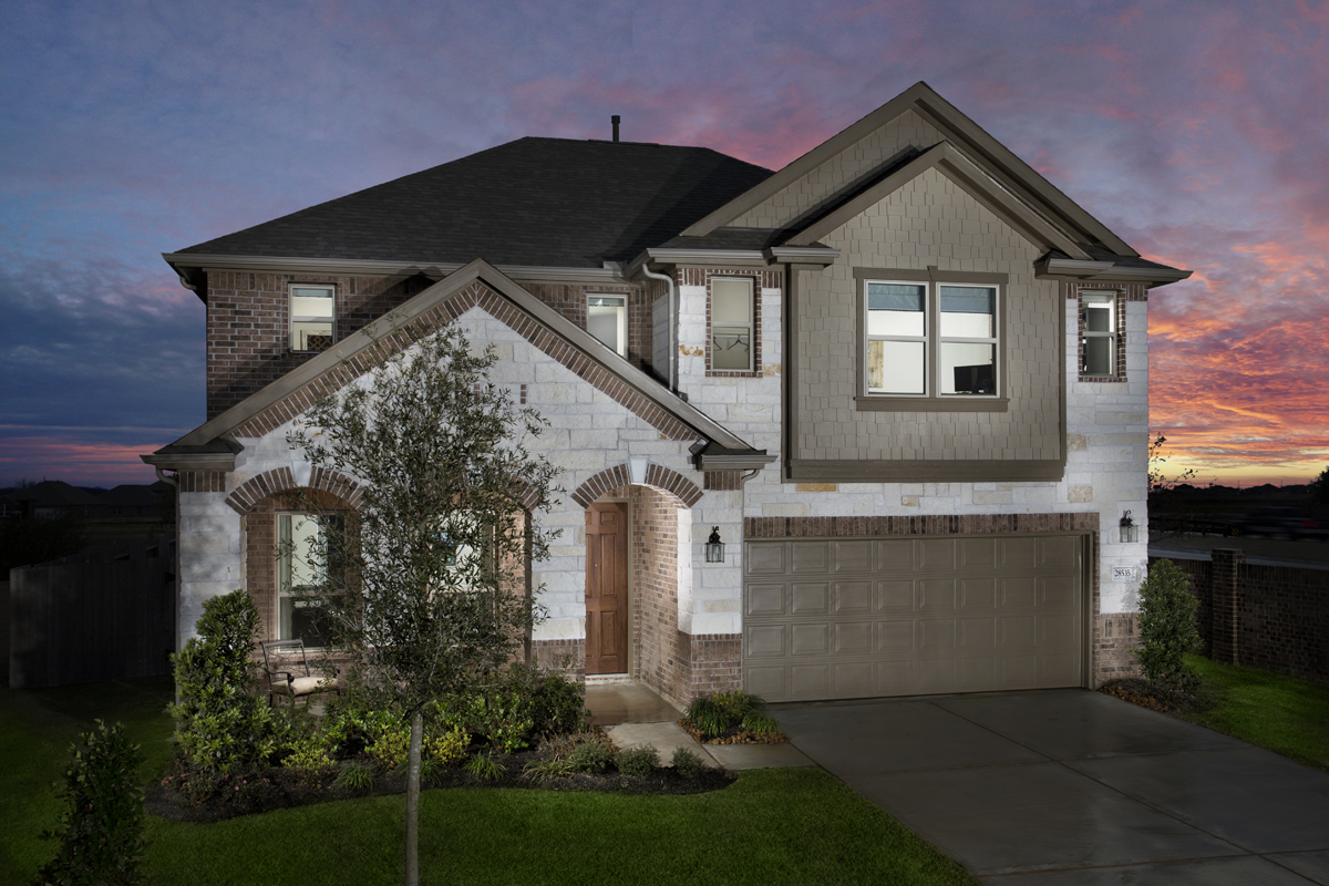 KB model home in Katy, TX