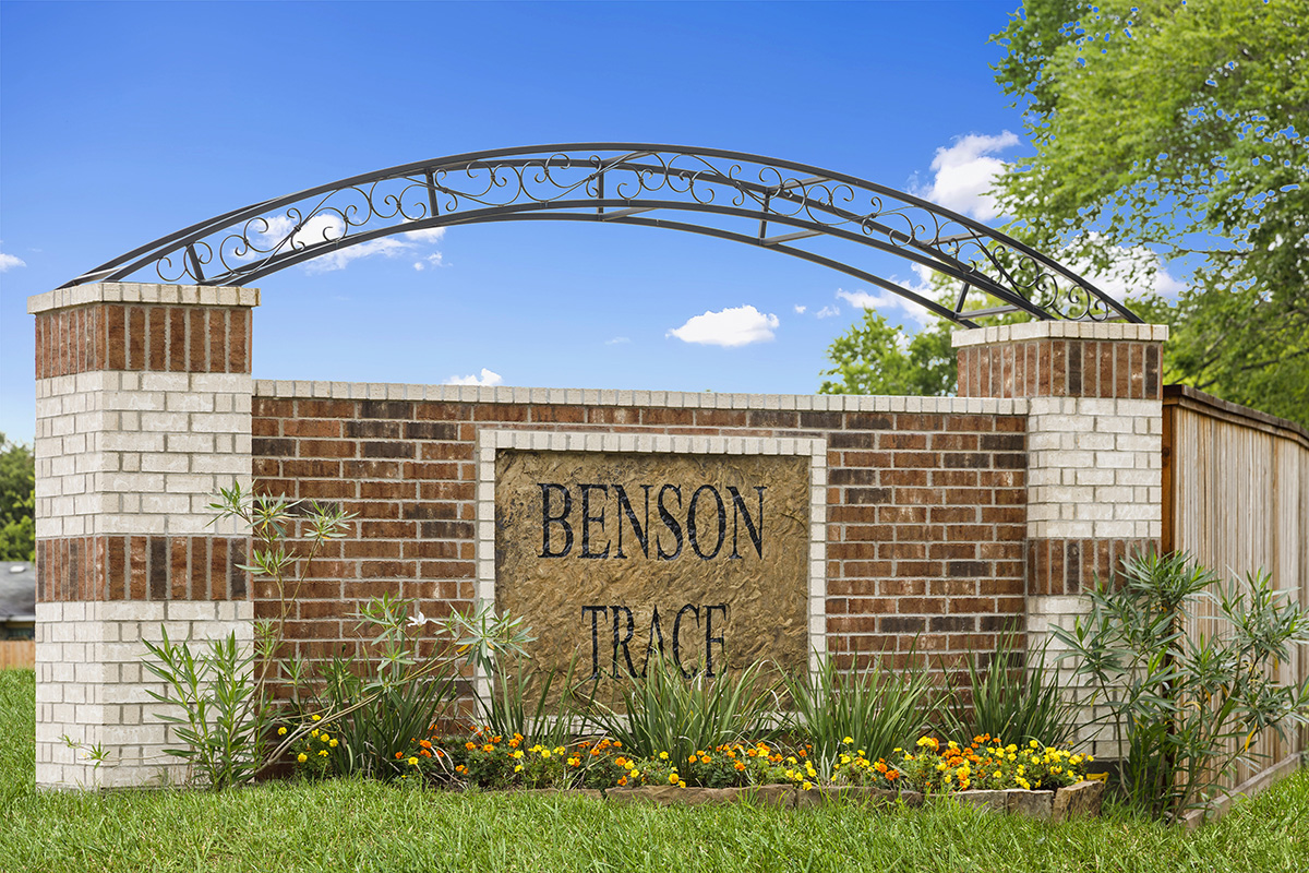 New Homes in Houston, TX - Benson Trace Community Entrance