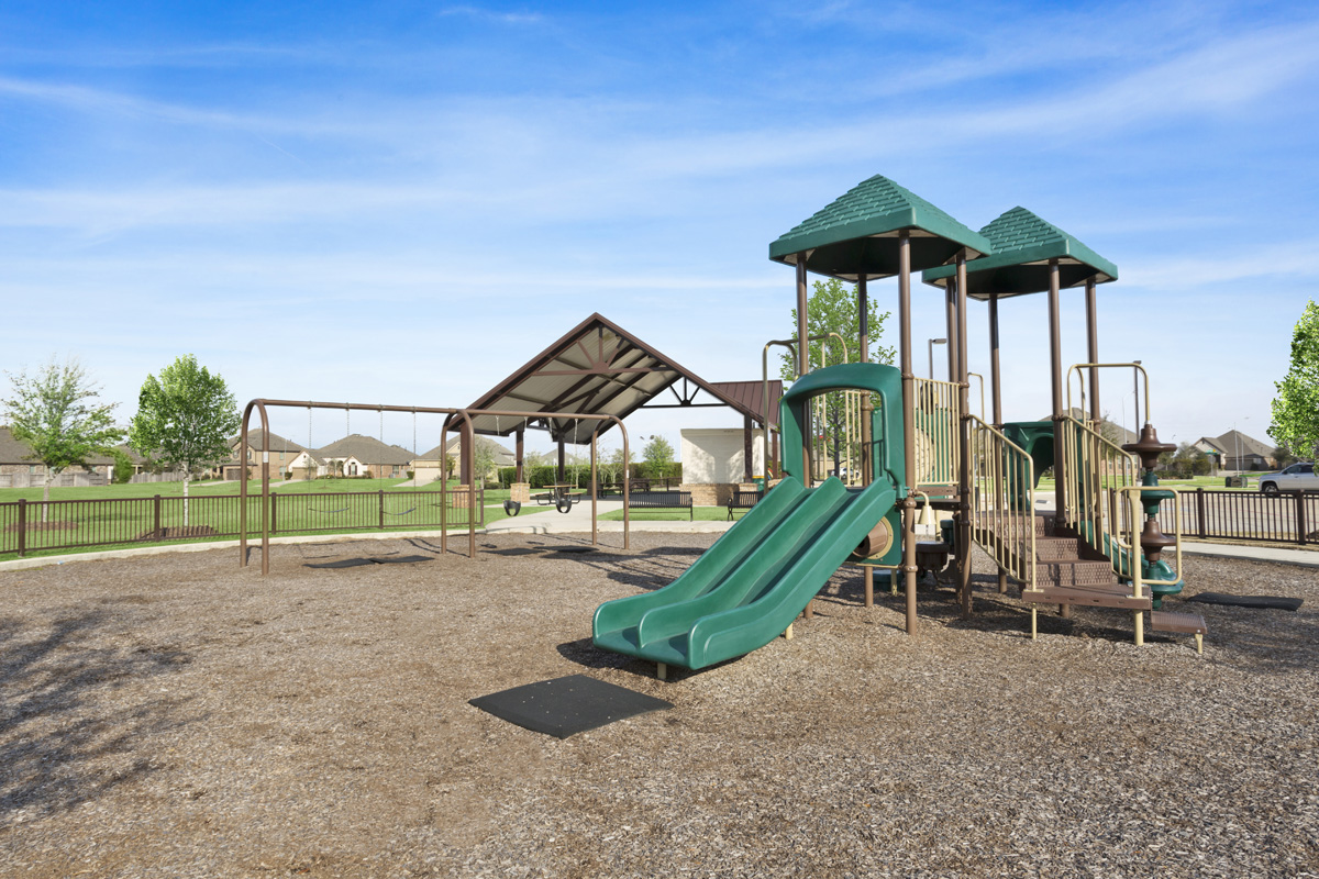 Amenity park at a KB Home community in Richmond, TX