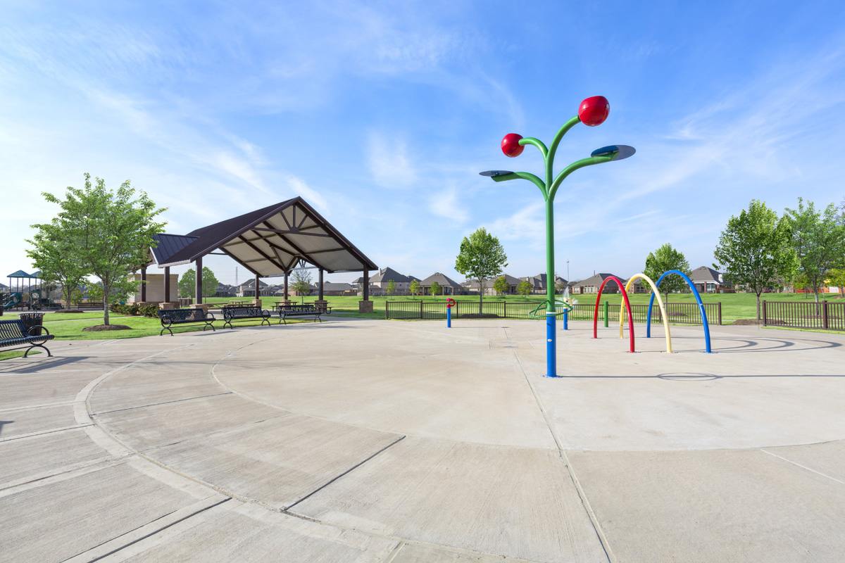New Homes in Richmond, TX - Briscoe Falls Preserve Community Splash Pad