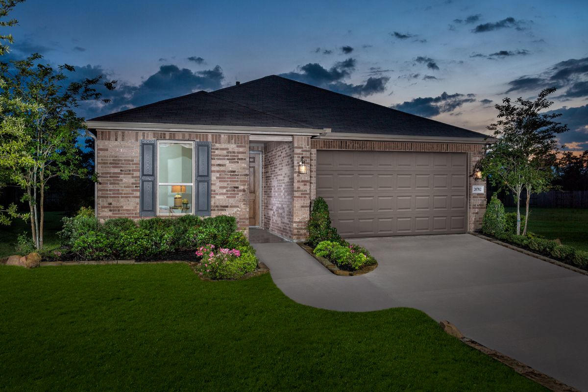 KB model home in Porter, TX