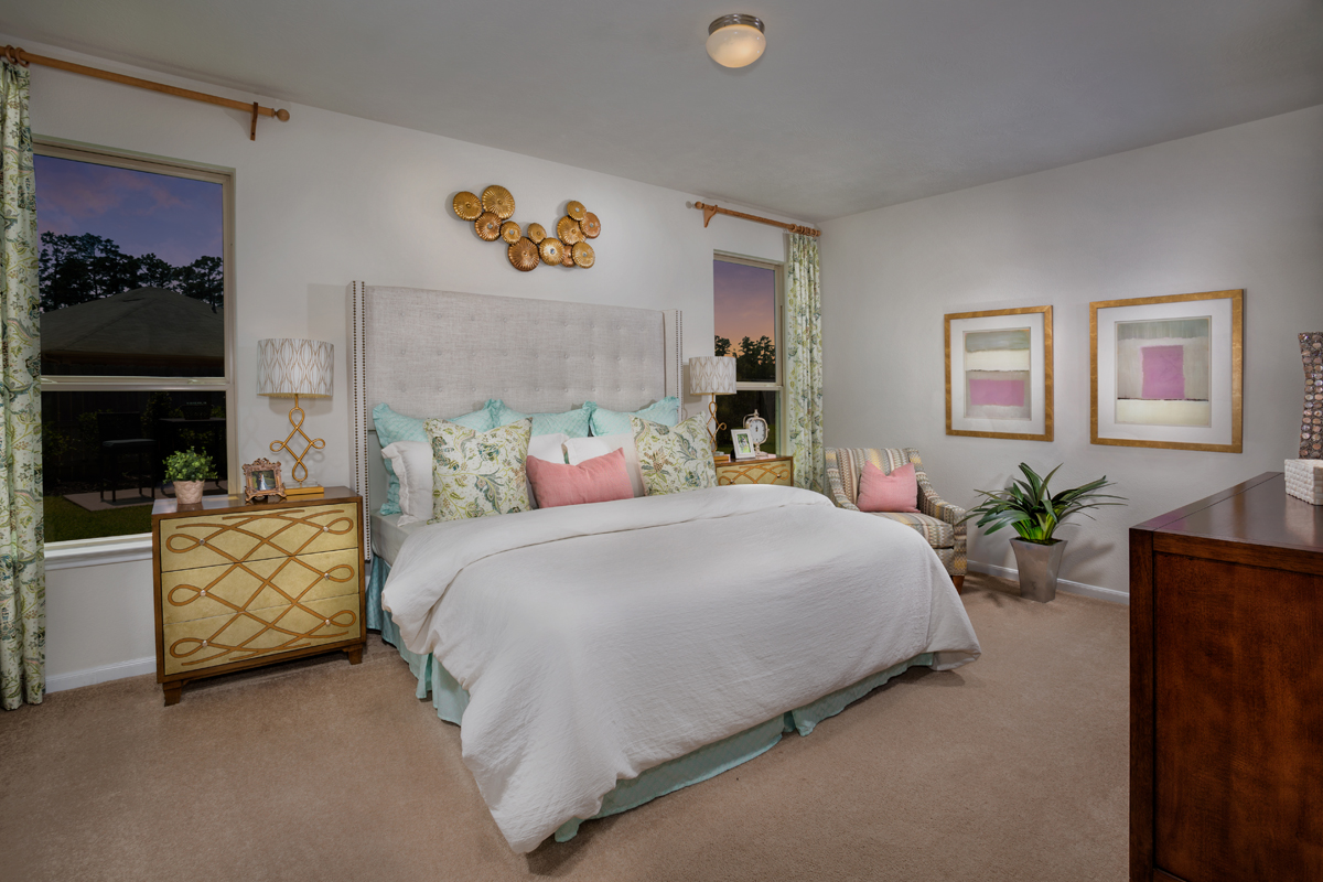 New Homes in Porter, TX - Brookwood Forest Springs Plan 1889 Master Suite