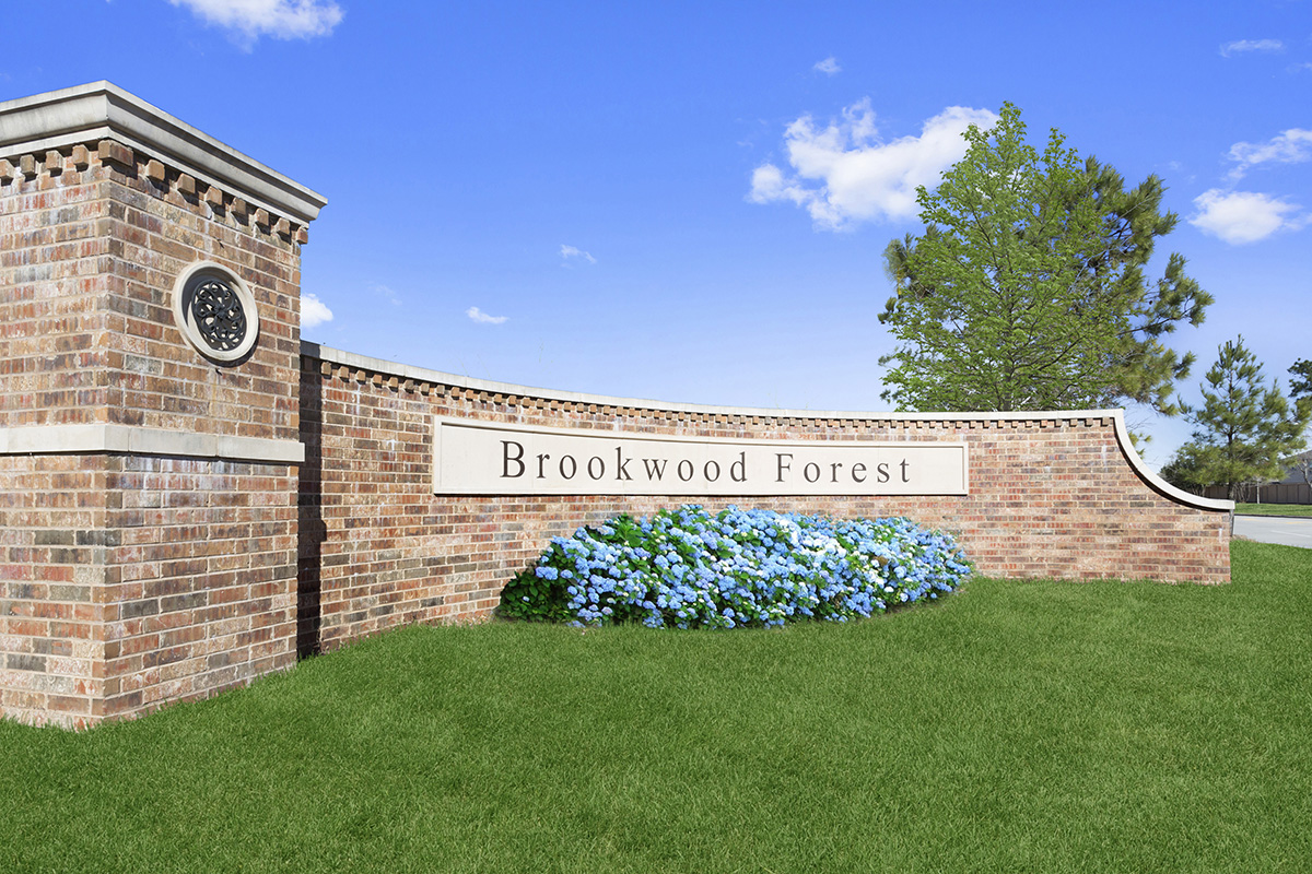 New Homes in Porter, TX - Brookwood Forest Springs Entry Monument