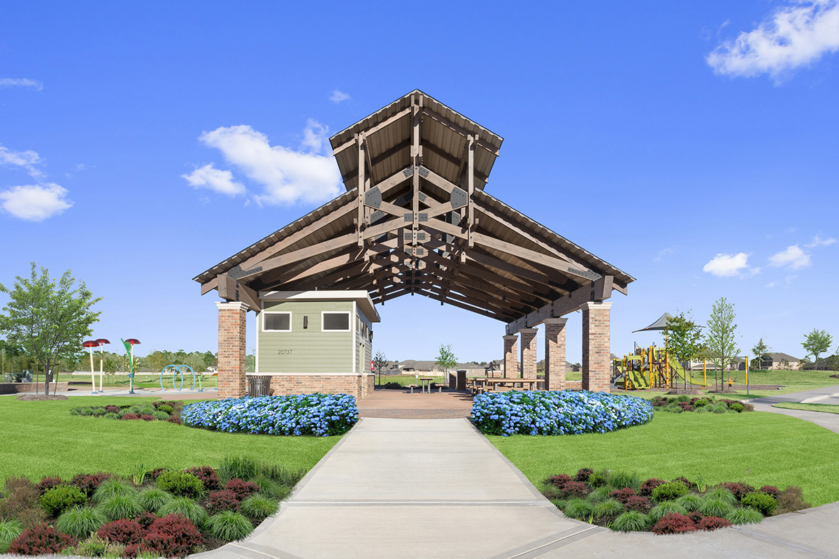 New Homes in Porter, TX - Brookwood Forest Springs Community Open Air Pavilion