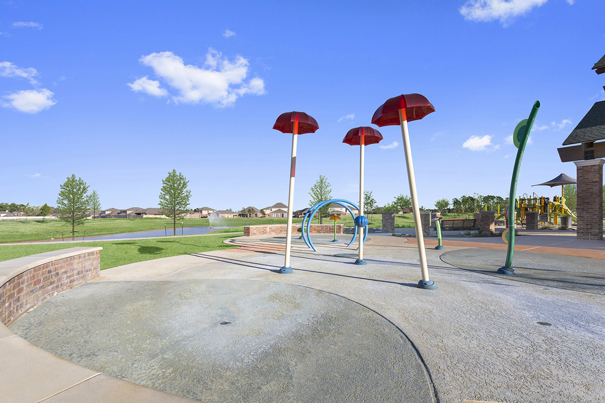 New Homes in Porter, TX - Brookwood Forest Springs Community Splash Pad