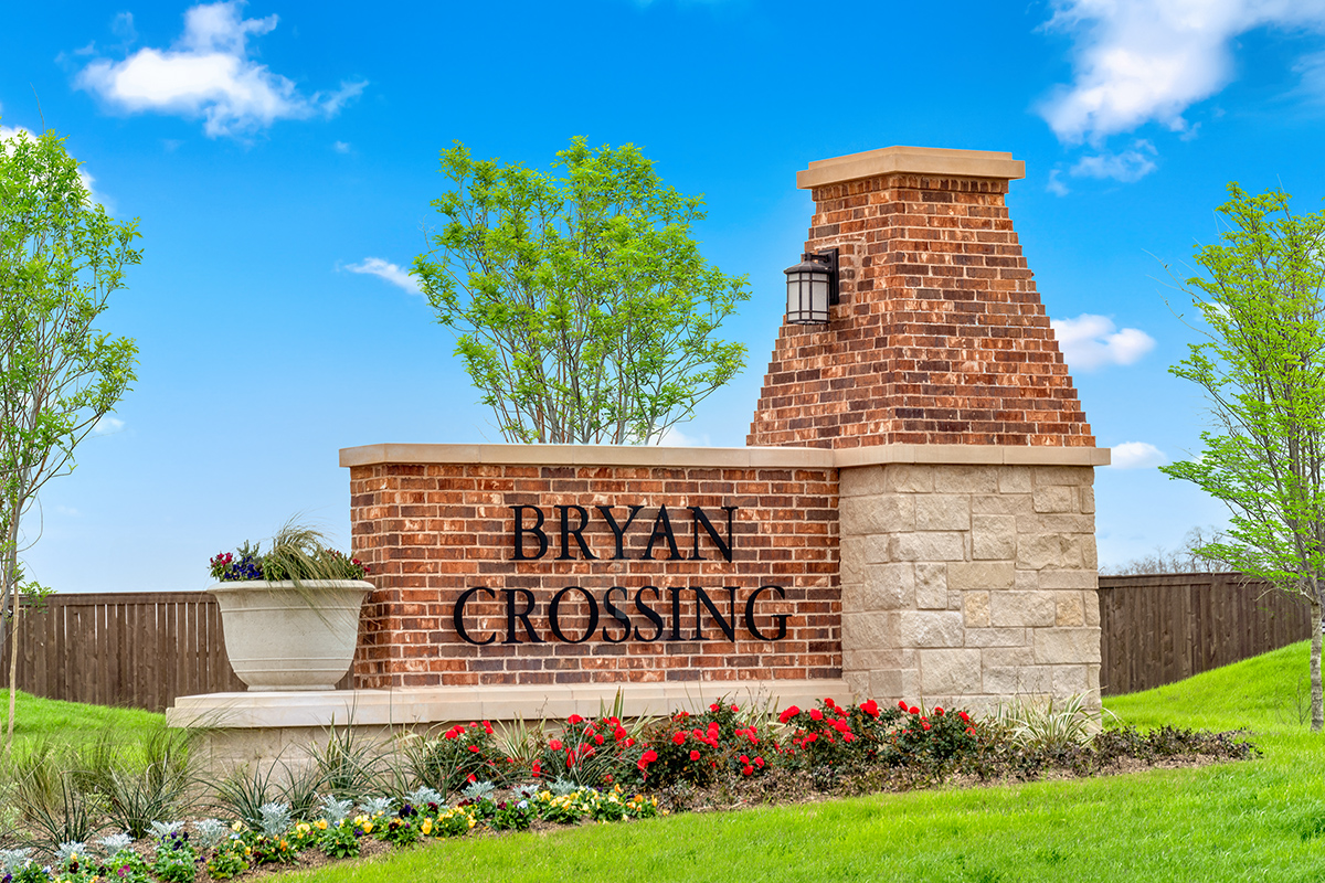 New Homes in Rosenberg, TX - Bryan Crossing Community Entrance