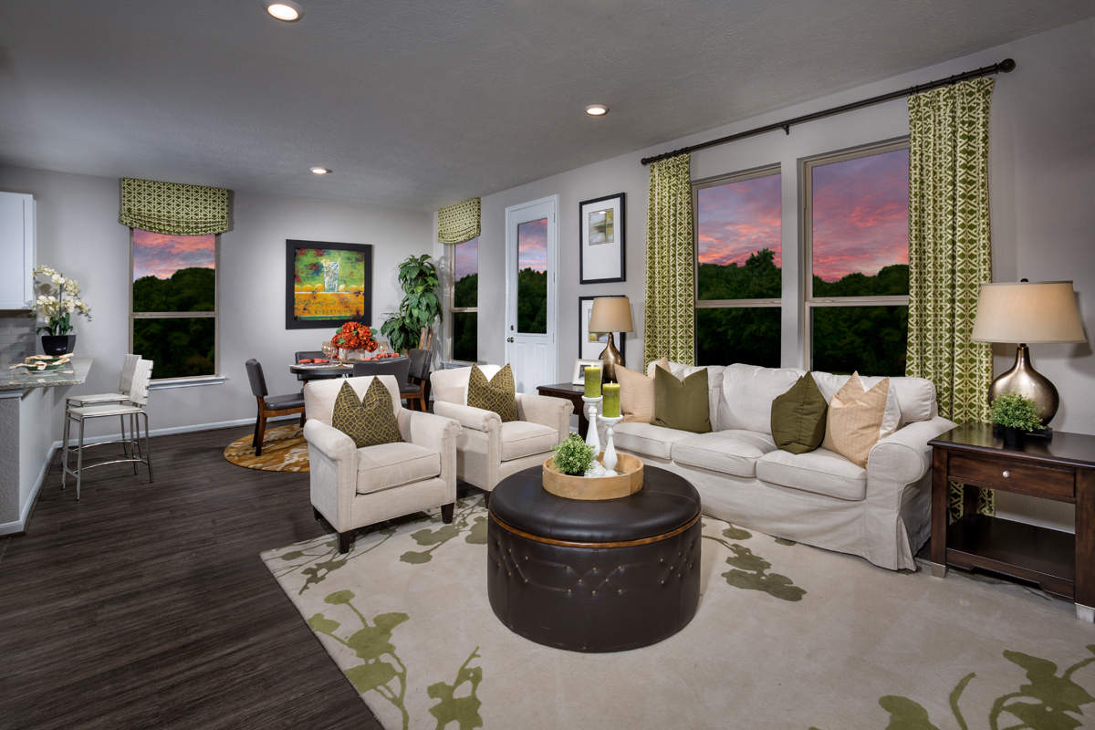 New Homes in Houston, TX - Cedar Brook Plan 1930 Great Room