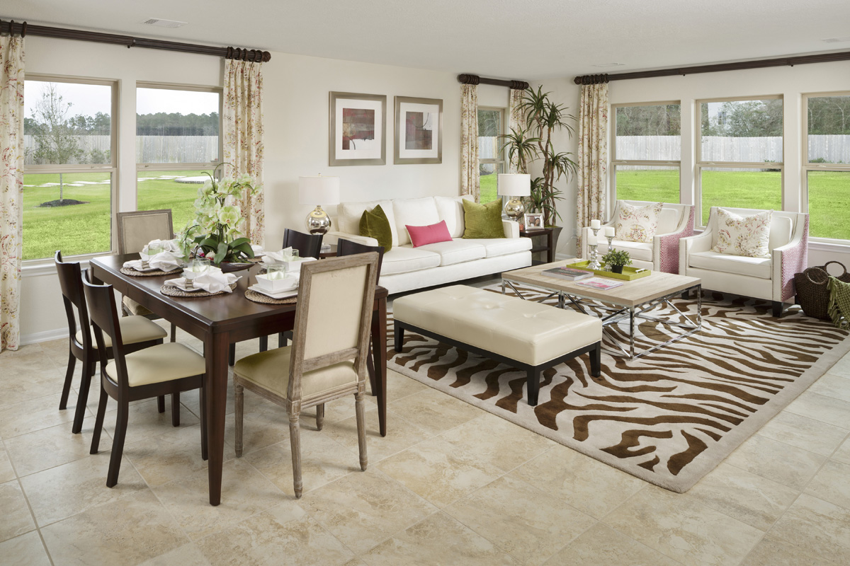New Homes in Magnolia, TX - Cimarron Creek Preserve Plan 2130 Great Room