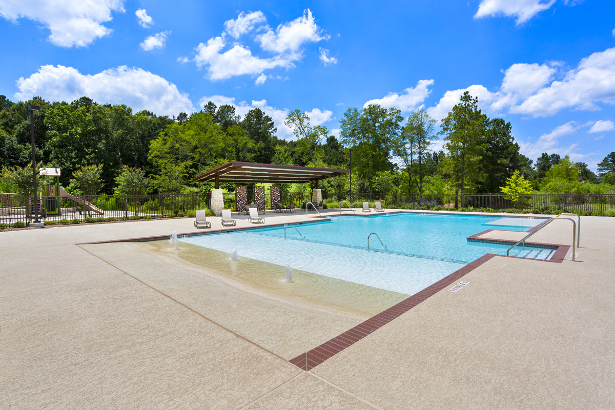 New Homes in Magnolia, TX - Cimarron Creek Preserve Resort-style Pool