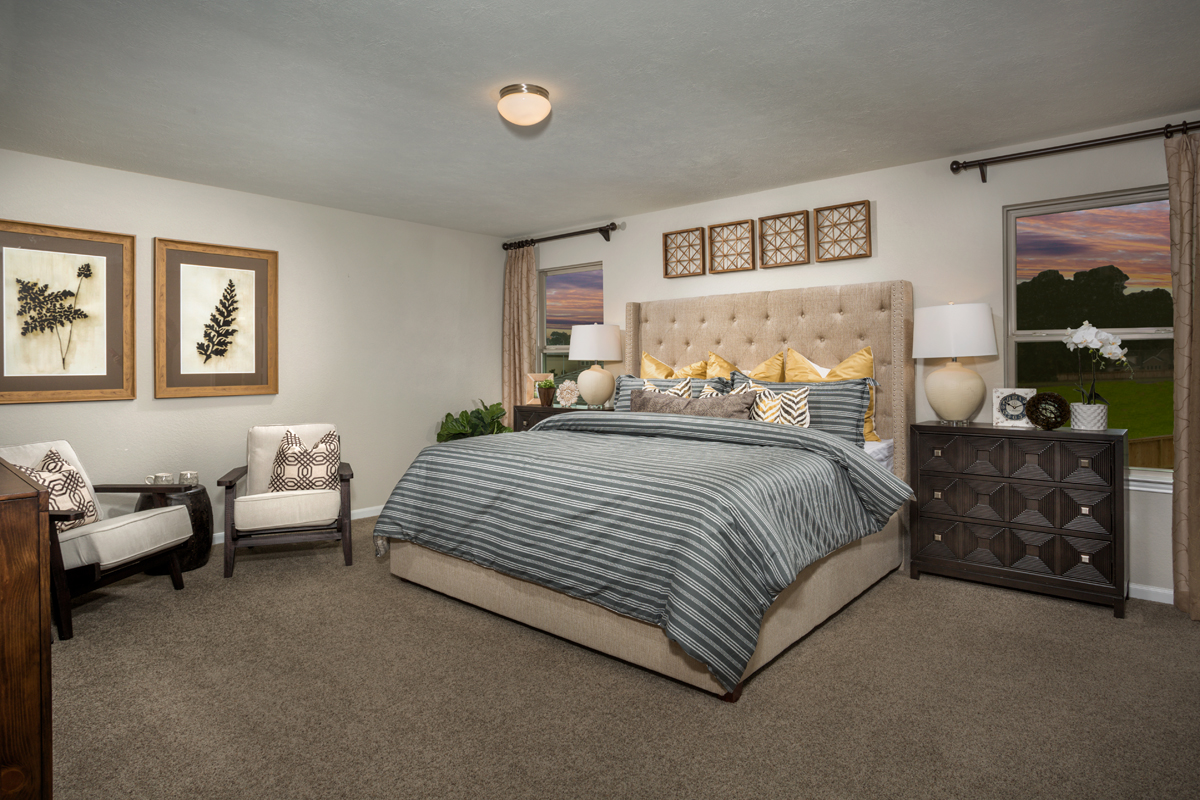 New Homes in Texas City, TX - Vida Costera Plan 2372 Owner's Suite as modeled at Cypress Creek Landing