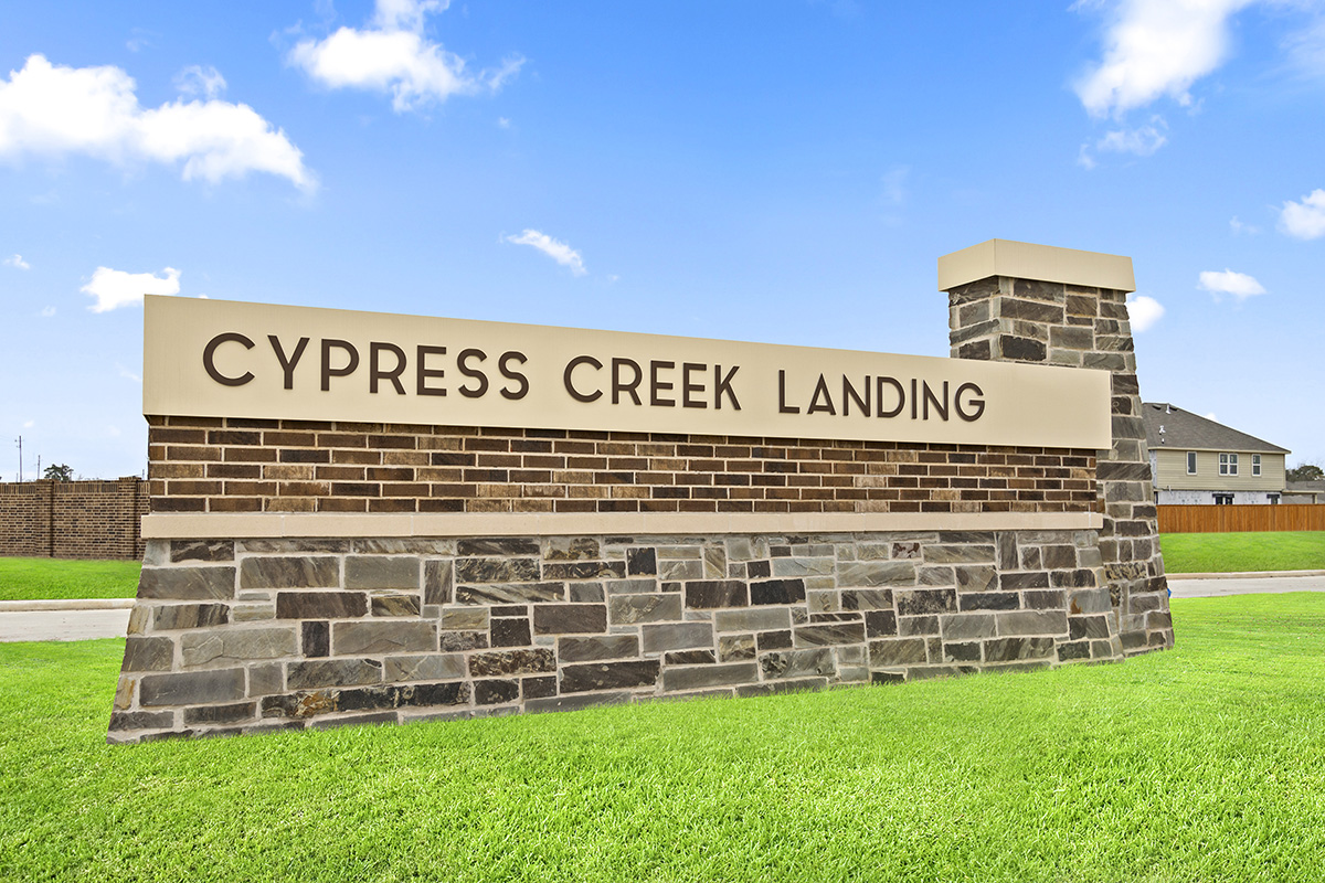 New Homes in Houston, TX - Cypress Creek Landing Community Entrance