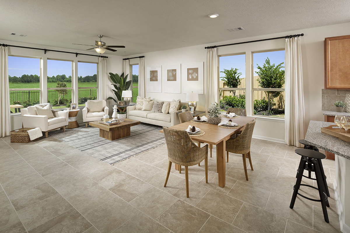 New Homes in Katy, TX - Katy Manor Preserve Plan 2130 Great Room