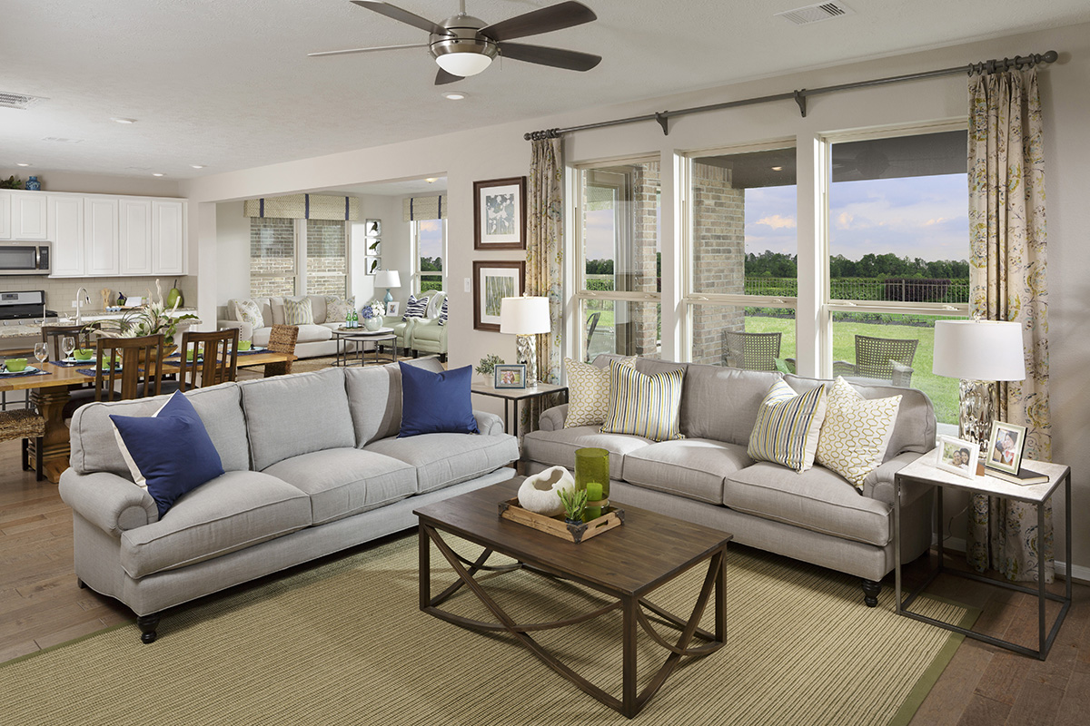New Homes in Katy, TX - Katy Manor Preserve Plan 2478 Great Room