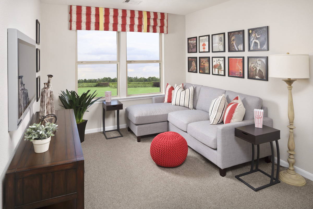 New Homes in Houston, TX - Lakewood Pines Trails Plan 1864 Loft as modeled at Katy Manor Trails