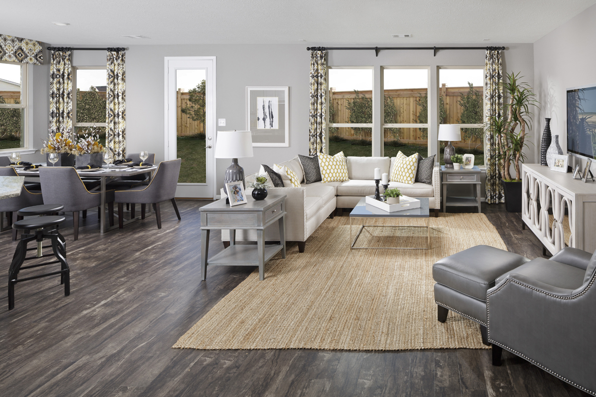 New Homes in Katy, TX - Katy Manor Trails Plan 2646 Great Room