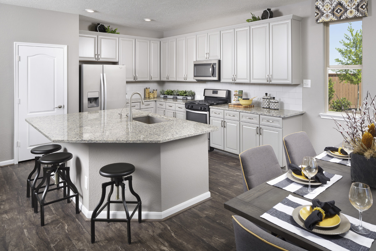 New Homes in Katy, TX - Katy Manor Trails Plan 2646 Kitchen