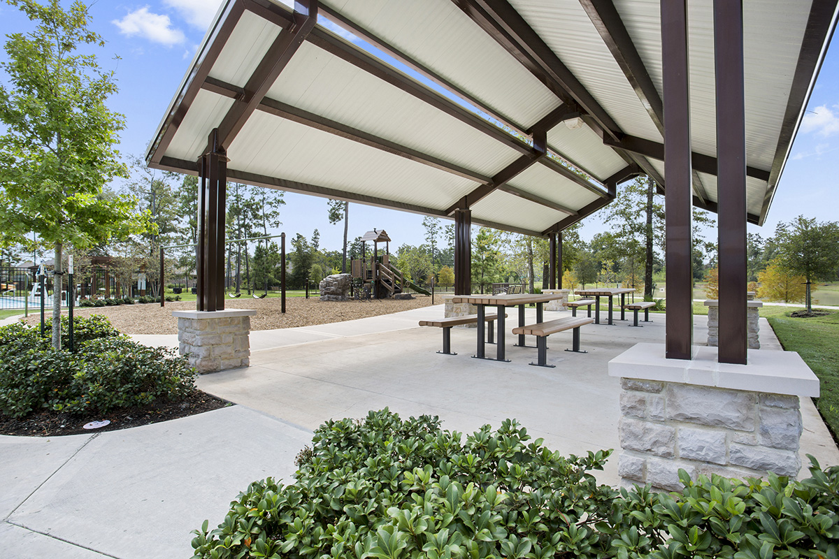 New Homes in Houston, TX - Lakewood Pines Estates Community Open Air Pavillion