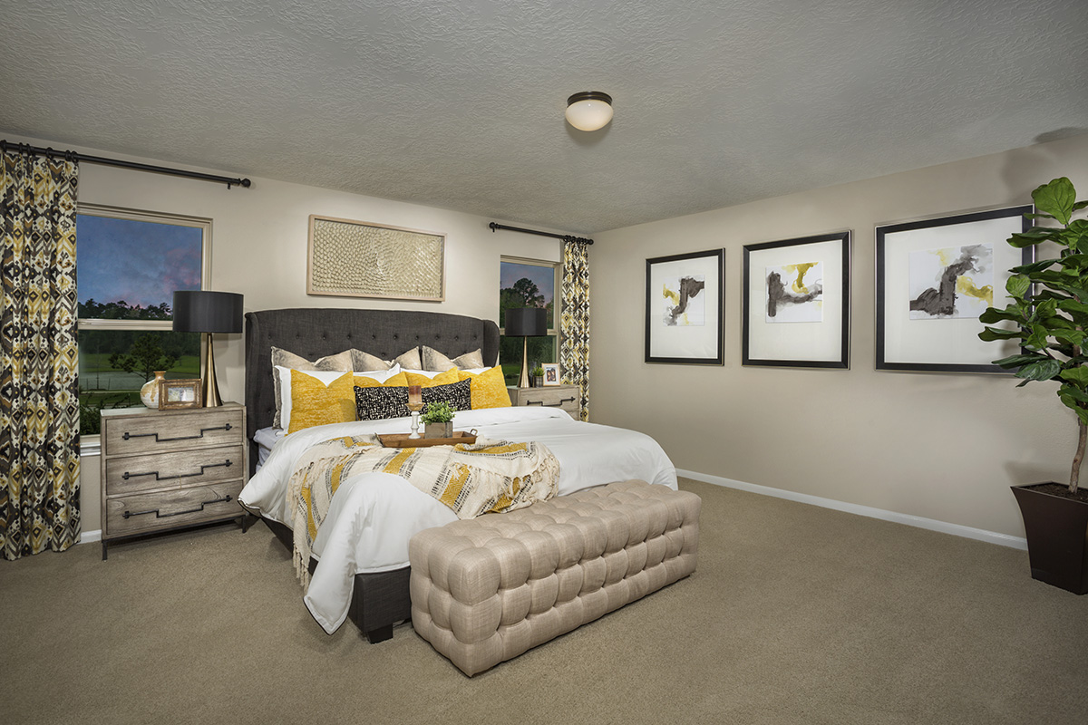 New Homes in Houston, TX - Lakewood Pines Trails Plan 2124 Master Suite