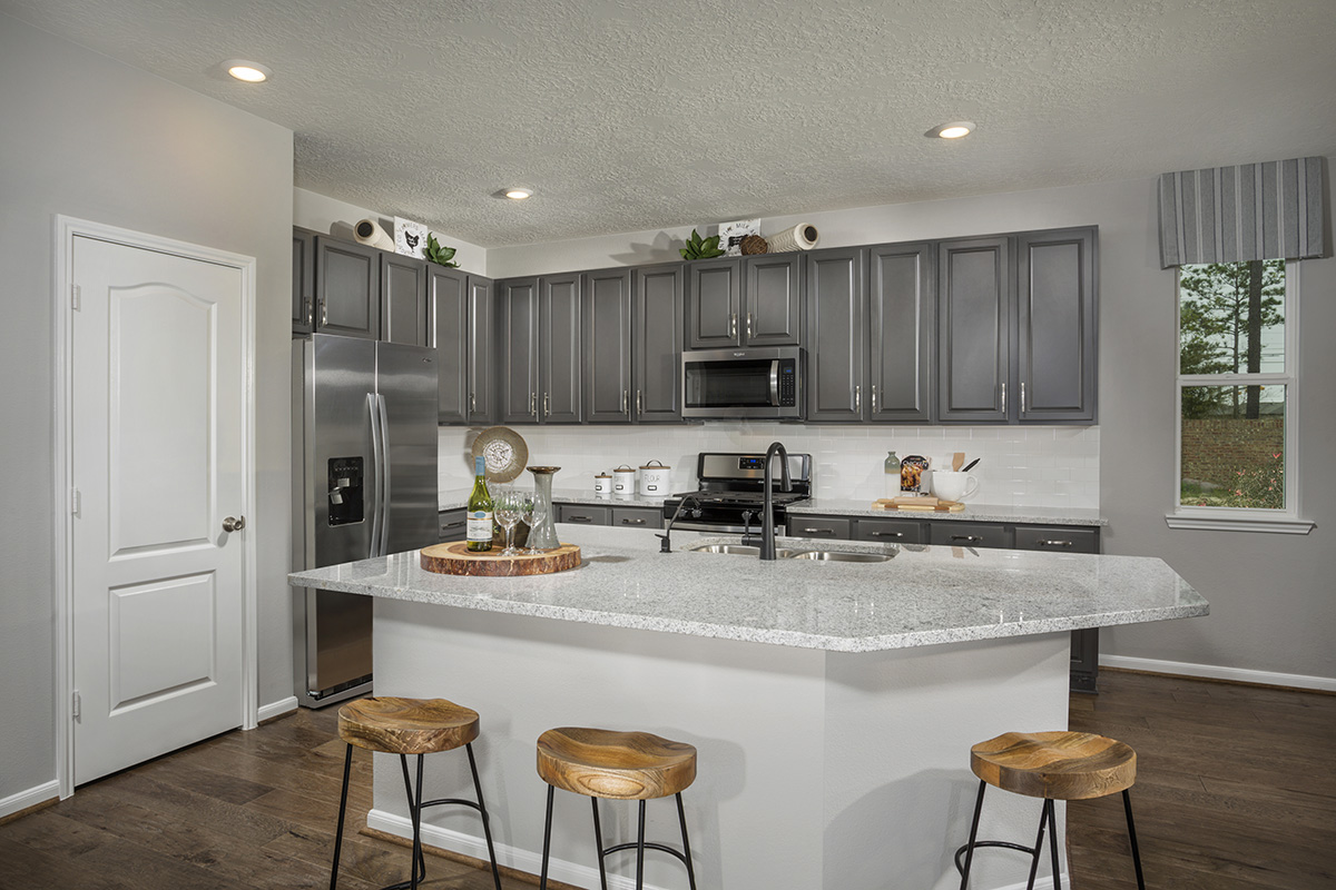 New Homes in Houston, TX - Lakewood Pines Trails Plan 2646 Kitchen