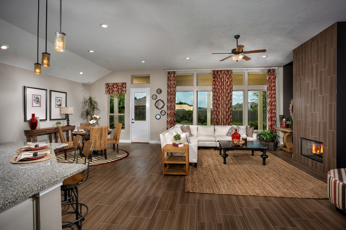 New Homes in Kingwood, TX - Rivergrove Plan 2314 Great Room